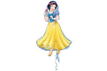 Disney Princess Supershape Snow White Foil Balloon (Blue/Yellow) (One Size)