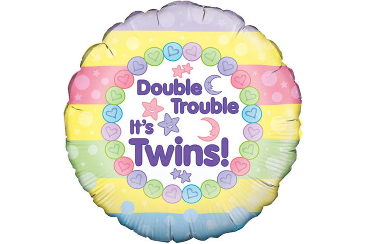 Oaktree 18 Inch Double Trouble Its Twins Balloon (Multicoloured) (One Size)