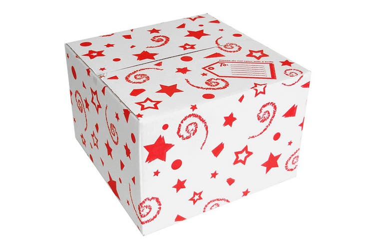 Oaktree Stars And Swirls Balloon Box (Red/White) (One Size)