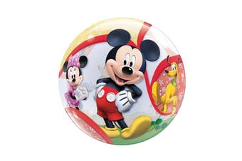 Qualatex Disney 22 Inch Mickey Mouse Clubhouse Single Bubble Balloon (Multicoloured) (One Size)