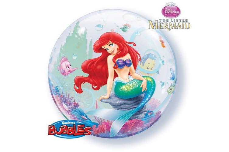 Qualatex Disney 22 Inch Little Mermaid Single Bubble Balloon (Multicoloured) (One Size)