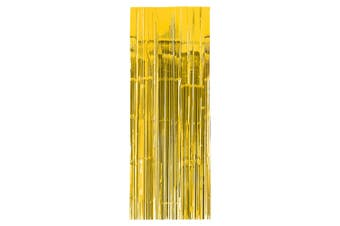 Amscan Foil Door Curtain (Sunshine Yellow) (One Size)