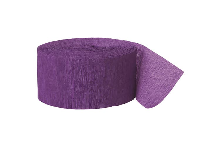 Unique Party Crepe Streamer Roll (81ft) (Purple) (One Size)