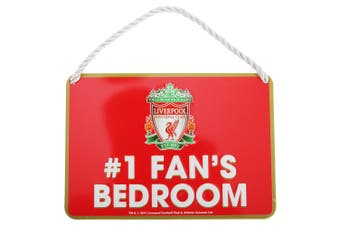 Liverpool FC Official Number 1 Fan Football Crest Bedroom Sign (Red) (One Size)
