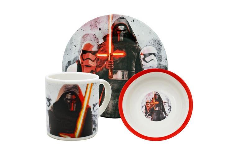 Star Wars Official Force Awakens Kylo Ren Ceramic Crockery Set (White/Black/Red) (One Size)