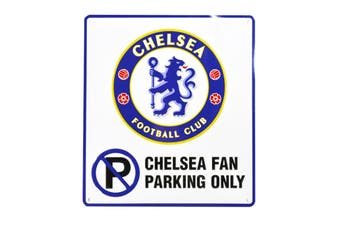 Chelsea FC Official Football Crest No Parking Sign (White/Blue) (One Size)