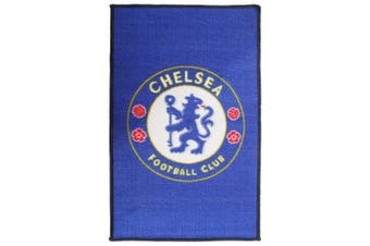 Chelsea FC Official Printed Football Crest Rug (Blue) (One Size)
