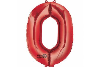 Amscan Supershape Red Number Balloons (Red) (0)
