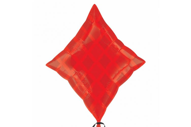 Amscan 18 Inch Diamond Foil Balloon (Red) (One Size)
