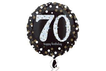 Amscan Sparkling Milestone Birthday Round Balloon (Age 18-100) (70) (One Size)