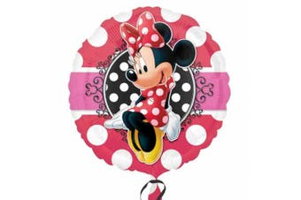 Anagram Disney Minnie Mouse Potrait 18 Inch Circular Foil Balloon (Pink) (One Size)