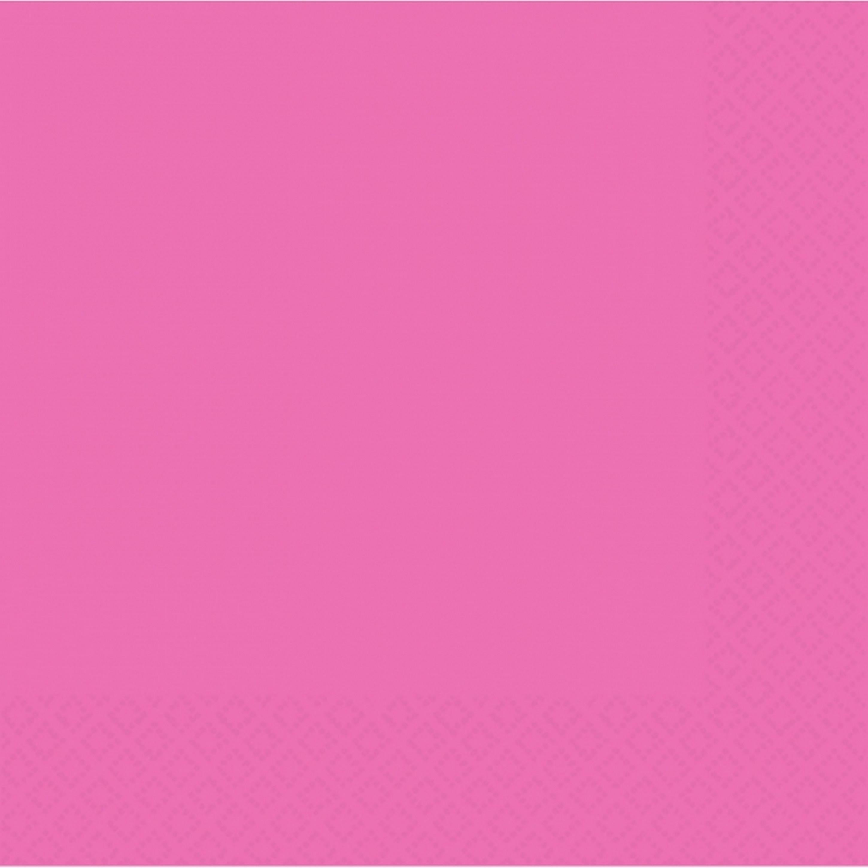 Amscan 2-Ply Bright Pink Luncheon Napkins 50 Ct Party Tableware