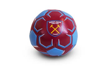 West Ham FC Official Football Crest Mini Soft Ball (Claret/Blue) (One Size)