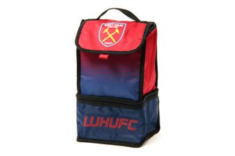 West Ham FC Official Fade Insulated Football Crest Lunch Bag (Red/Blue) (One Size)