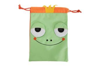 Childrens/Kids 3D Animal Design Drawstring Lunch Bag (Green) (One Size)