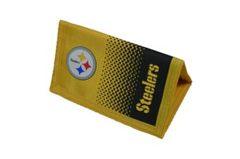 NFL Pittsburgh Steelers Official Fade Football Crest Wallet (Yellow/Grey) (One Size)
