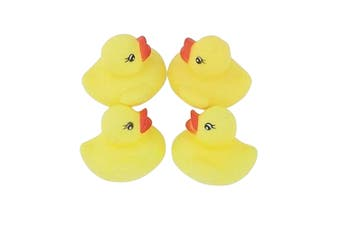 Unique Party Baby Shower Rubber Ducks (Pack Of 4) (Yellow) (One Size)