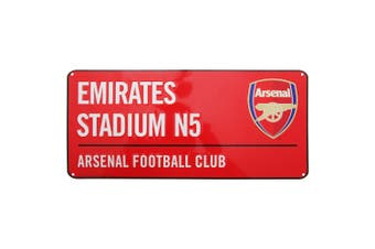 Arsenal FC Official Emirates Stadium Football Crest Street Sign (Red) (One Size)