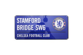 Chelsea FC Official Stamford Bridge Football Crest Street Sign (Blue) (One Size)