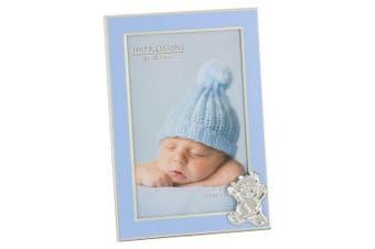 Juliana Blue Baby Bear Photo Frame (Blue) (One Size)