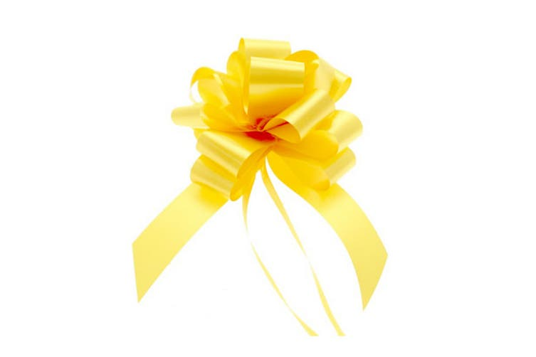 Midwest Ribbons 30mm Decorative Pull Bows (Pack Of 30) (Yellow) (One Size)