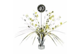 Amscan Gold Celebration 40th Birthday Centrepiece Spray Decoration (Gold/Silver) (One Size)