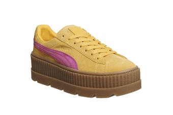 Puma X FENTY By Rihanna Womens/Ladies Cleated Suede Creepers (Lemon/Pink) (5 UK)