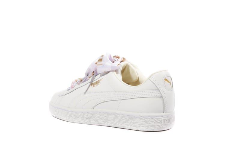 Resistente Alternativa Paradoja  Puma Womens/Ladies Basket Heart Geo Camo Trainers (Whisper White) (5 UK) -  Kogan.com