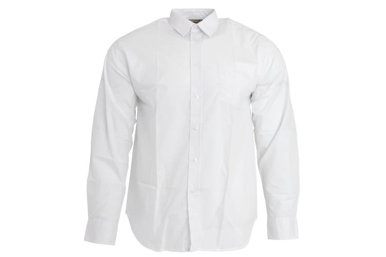 Sheldon Boys Long Sleeve School Shirt (White) (Size 16 (To Fit Chest Up To 104cm))