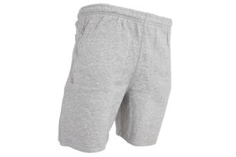 Red Tag Mens Tracksuit Shorts (Grey)