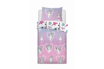 Disney Princess Nap Queen Rotary Duvet Set (Purple) (Single)