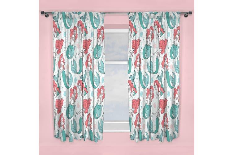 Disney Princess Oceanic Curtains (Multicoloured) (168cm x 137cm)