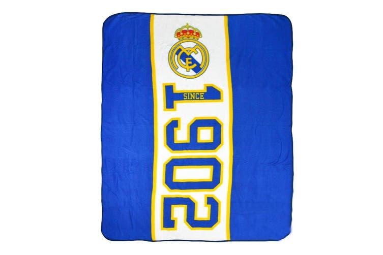 Real Madrid FC Established Fleece Blanket (Blue) (One Size)
