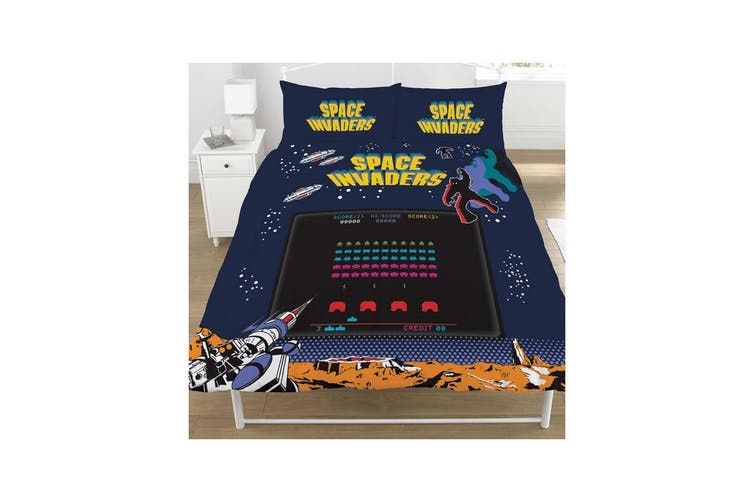 Space Invaders Coin Op Duvet Set (Multicoloured) (Double)
