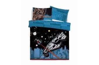 Star Wars Comic Pop Panel Duvet Cover Set (Blue) - UTSI221