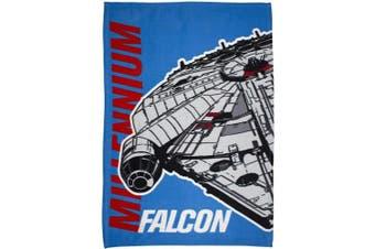 Star Wars Official Childrens/Kids Millennium Falcon Fleece Blanket (Blue) (One Size)