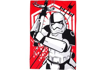 Star Wars The Force Awakens First Order Fleece Blanket (Red) (One Size)