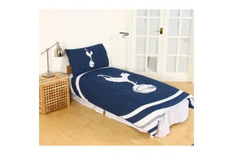 Tottenham Hotspur FC Official Pulse Design Reversible Duvet And Pillowcase Set (Navy/White) - UTSI244
