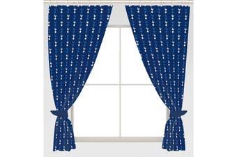 Tottenham Hotspur FC Repeat Crest Curtains (Blue) (168 x 137cm)