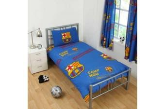 FC Barcelona Childrens/Kids Patch Single Duvet Set (Multicoloured) (One Size)