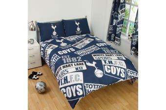 Tottenham Hotspur FC Childrens/Kids Official Patch Football Crest Duvet Set (Navy/White) (Single)