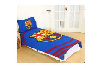 FC Barcelona Pulse Single Duvet Set (Multicoloured) (One Size)