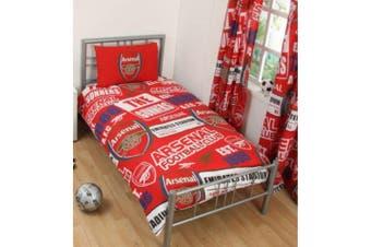 Arsenal FC Childrens/Kids Patch Duvet Set (Red) - UTSI296