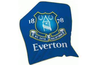 Everton FC Fleece Blanket (Blue) (One Size)