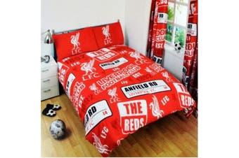Liverpool FC Patch Duvet Set (Red/White) - UTSI410