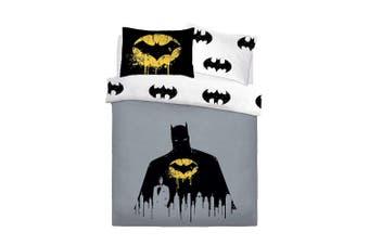 Batman Dark Knight Panel Duvet Set (Black/Grey)