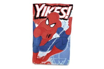 Spider-Man Childrens/Kids Yikes Warm Throw Fleece Blanket (Red/Blue) (One Size)
