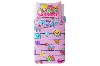 Pikmi Pops Childrens/Kids So Sweet Duvet Cover Set (Pink) (One Size)