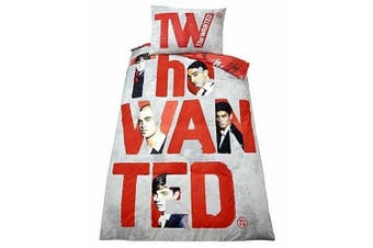 The Wanted Forever Duvet Cover Set (Grey/Red) (Single)