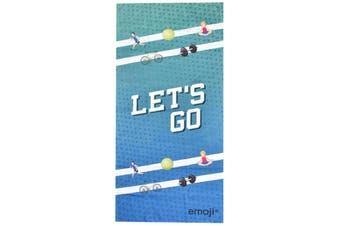 Emoji Microfibre Sports Towel (Blue) (One Size)